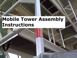 Tower Erection instructions