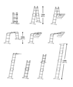 Four Folding -Articulated Ladders